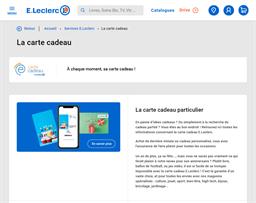 E.Leclerc gift card purchase