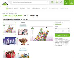 Leroy Merlin gift card purchase