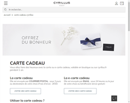 Cyrillus gift card purchase