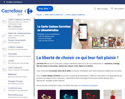 Carrefour Pro gift card purchase
