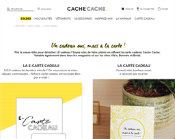 Cache Cache gift card purchase