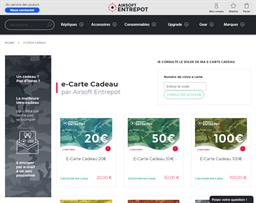 Airsoft Entrepot gift card balance check