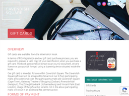Cavendish Square gift card purchase