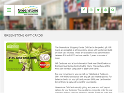 Greenstone Shopping Centre gift card purchase