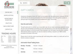 Greenacres Shopping Centre gift card purchase