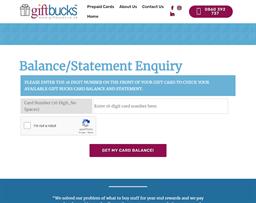 Gift Bucks gift card balance check