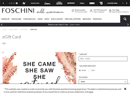 Foschini for Beauty gift card purchase