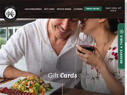 Daily Grill gift card purchase