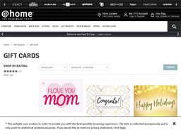 @home Homeware Store gift card purchase