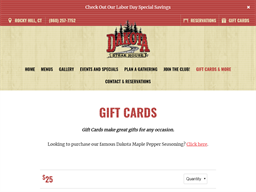 Dakota Steak House gift card purchase