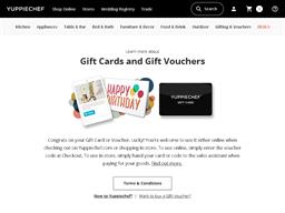 Yuppiechef gift card balance check