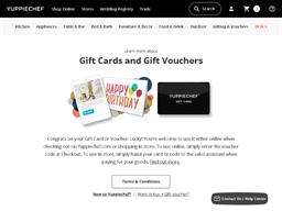 Yuppiechef gift card purchase