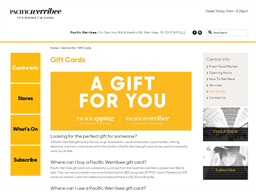 Pacific Werribee gift card purchase