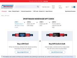 Sportsmans Warehouse gift card purchase
