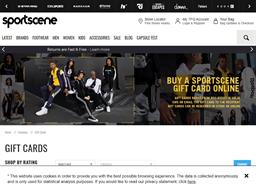 Sport Scene gift card purchase