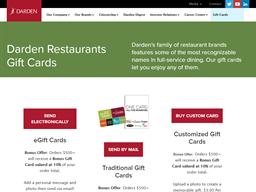 Darden Restaurants gift card purchase