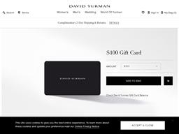 David Yurman gift card balance check