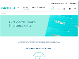 Davids Tea gift card purchase