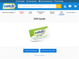 Catch gift card purchase