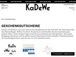 KaDeWe gift card purchase
