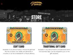 Dinosaur Bar B Que gift card purchase