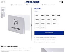 Jack & Jones gift card purchase