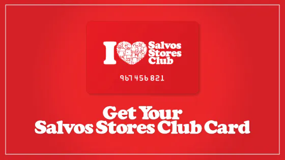 Salvos Stores gift card design and art work