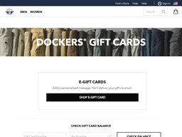 Dockers gift card balance check