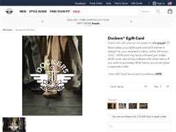 Dockers gift card purchase