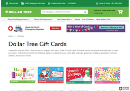Dollar Tree gift card purchase