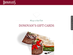 Donovan's Prime Steakhouse gift card purchase
