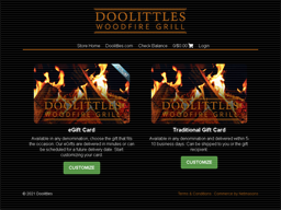 Doolittles Woodfire Grill gift card purchase