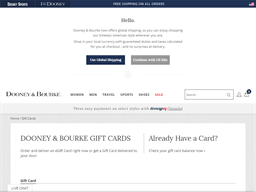 Dooney & Bourke gift card purchase