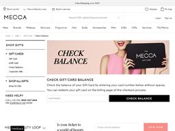Mecca gift card balance check