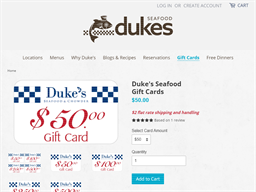 Duke's Chowder House gift card purchase