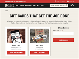 Duluth Trading Company gift card purchase