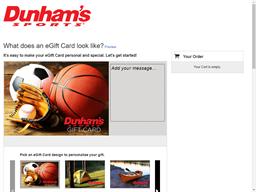 Dunham's Sports gift card purchase