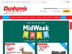Dunham's Sports shopping
