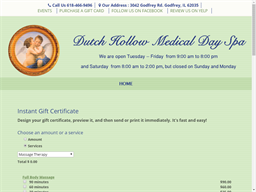 Dutch Hollow Day Spa gift card purchase