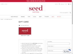 Seed Heritage gift card purchase