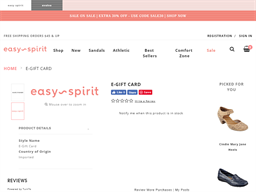 Easy Spirit gift card purchase