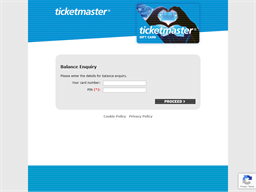 Ticket Master gift card balance check