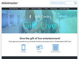 Ticket Master gift card purchase