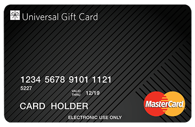 Universal Gift Card gift card design and art work