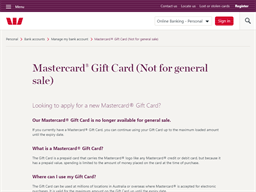 Westpac Mastercard Gift Card gift card purchase