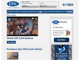 Epic Theaters gift card balance check