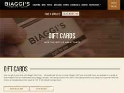 Biaggis gift card purchase