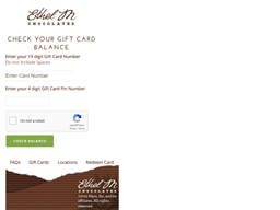 Ethel M Chocolates gift card balance check