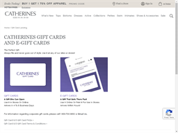 Catherines gift card balance check