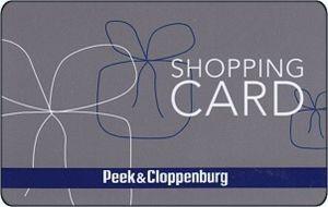 Peek und Cloppenburg gift card design and art work